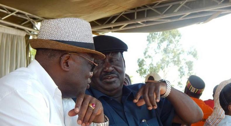 ODM leader Raila Odinga and Machakos Senator Johnson Muthama