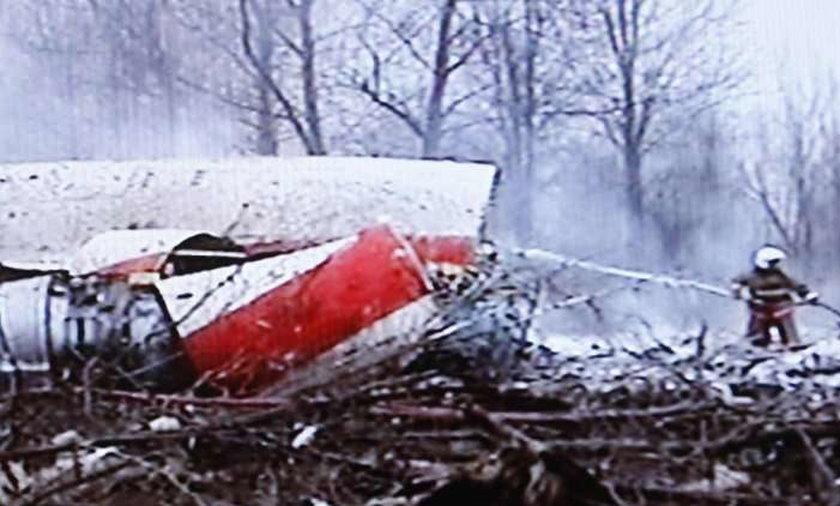 Samolot płonął na filmie
