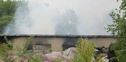 Spłonęły magazyny w Trzebini