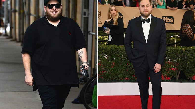 Before and after photos of Hollywood actor, Jonah Hill.