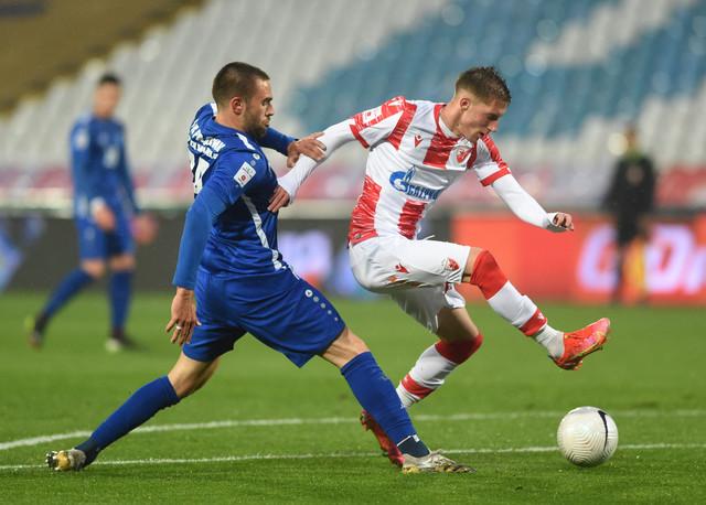 Detalj sa utakmice Crvena zvezda - Radnik