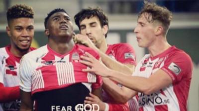 Belgian FA caution Nigerian striker Taiwo Awoniyi for showing off a bible verse while celebrating a goal
