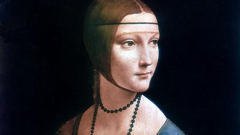 """Leonardo da Vinci, """"Dama z gronostajem"""", Muzeum Narodowe w Krakowie"""
