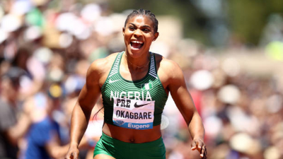 Nigerian sprinter Blessing Okagbare wins women's 200m in Stanford for her second Diamond title of the year