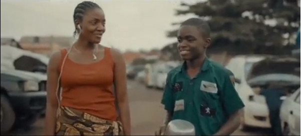 Simi and Toni Afolayan, who plays Ponmile, on the set of 'Mokalik'