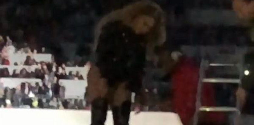 Wpadka na warszawskim koncercie Beyoncé. Jest film