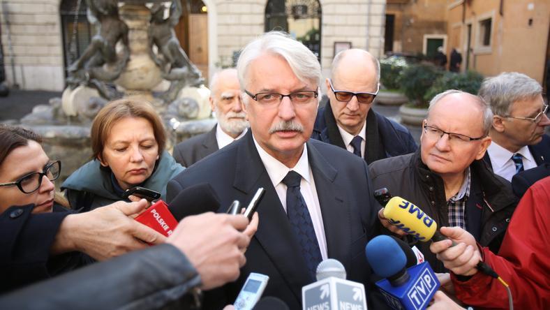 Minister Waszczykowski w Watykanie.