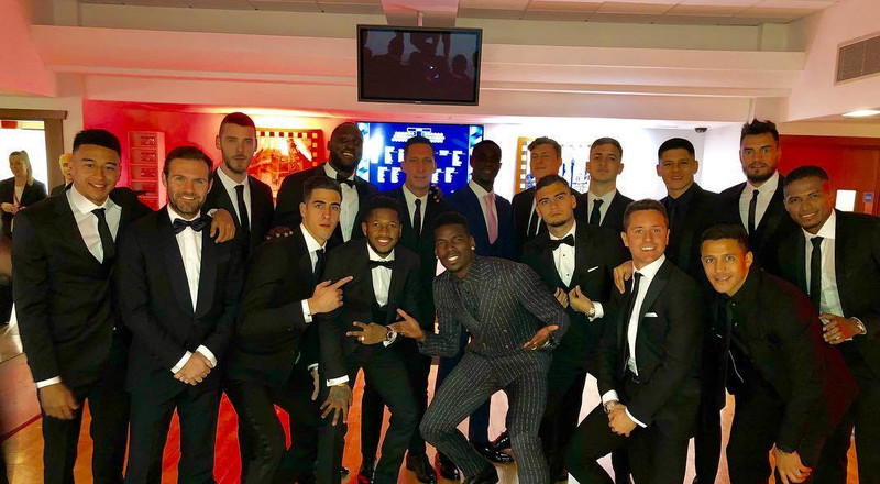 Suited and booted: Manchester United stars turn up at gala dinner'