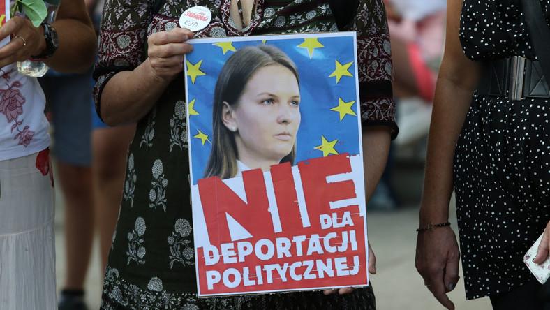Protest przeciwko deportacji Ludmyły Kozłowskiej