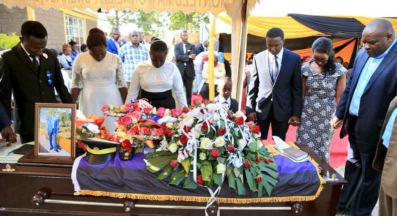 The Mutuas at her bodyguards funeral