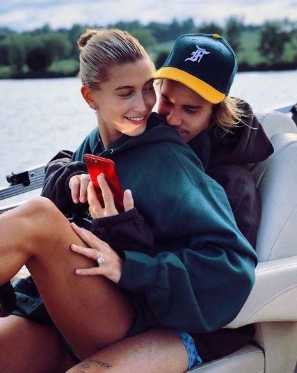 Justin Bieber and his wife, Hailey Baldwin [Instagram/HaileyBieber]