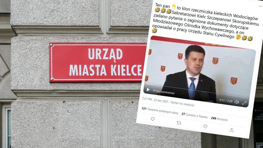 """Kielce: Ratusz """"zgubił"""" dokumenty? Odpowiedź urzędnika hitem internetu"""