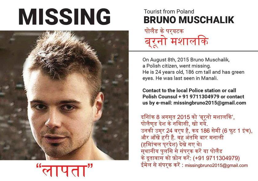 Bruno Muschalik zaginął w Indiach