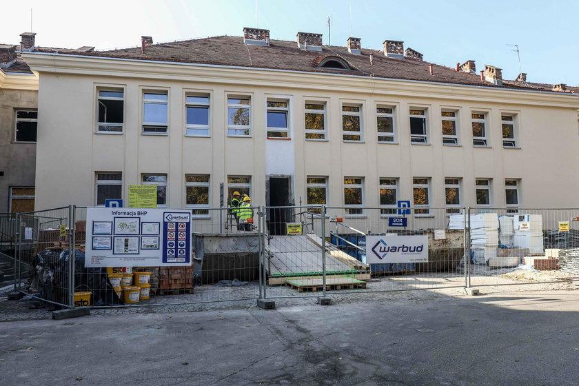 Remont w szpitalu Żeromskiego w Krakowie