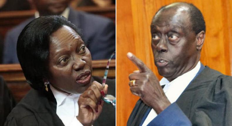 Senior Counsel Martha Karua and Senior Counsel Paul Muite