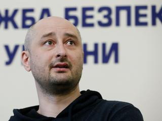 Russian journalist Babchenko, who was reported murdered in the Ukrainian capital on May 29, attends
