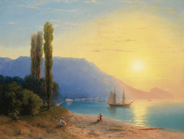 """""""Zalazak sunca iznad Jalte"""" - Ivan Ajvazovski je poznat po morskim pejsažima"""