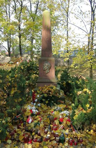 Poznań, symboliczny grób Hipolita Cegielskiego na Cmentarzu Zasłużonych Wielkopolan