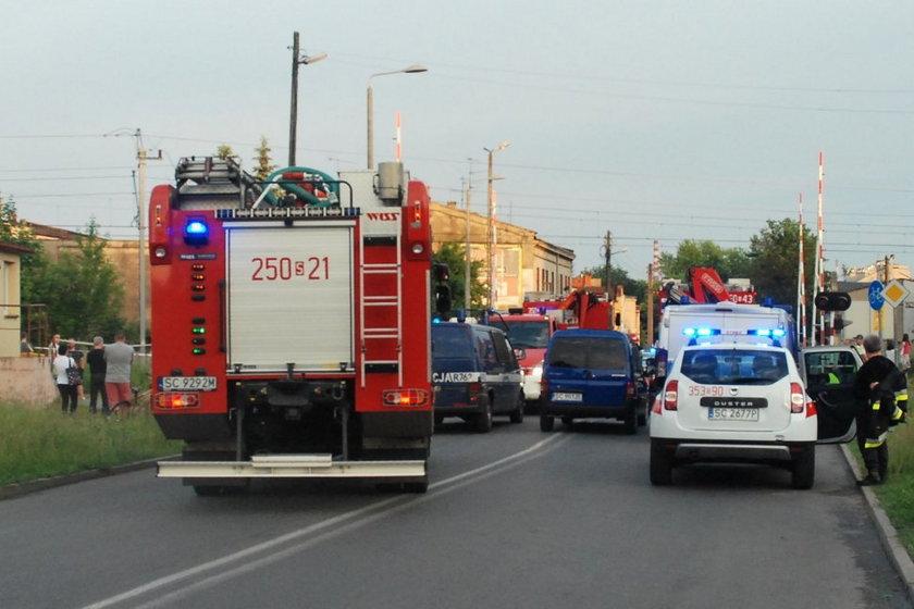 Wypadek na przejeździe w Częstochowie.