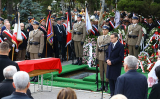 Pogrzeb Kornela Morawieckiego. Premier: Przez myśli, czyny wobec bliźniego wyrażał swą miłość do Boga, człowieka, do Polski