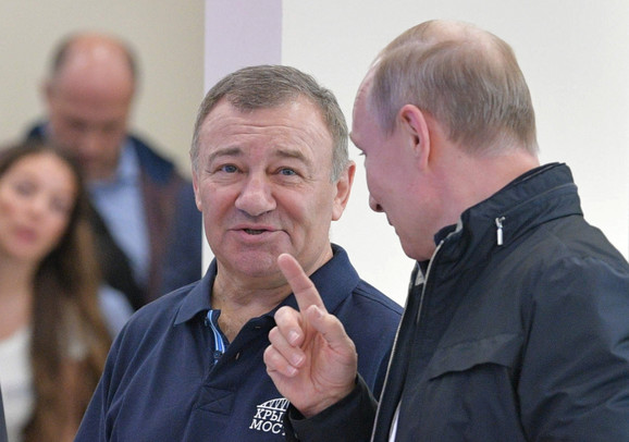 Arkadij Rotenberg i Vladimir Putin