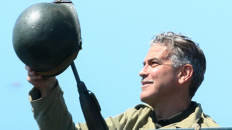 """George Clooney na planie """"The Monuments Men"""""""