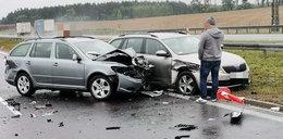 Karambol na autostradzie A1. Policjant uciekł śmierci