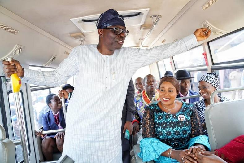 Sanwo-Olu donates bus to Bethesda Home, restates commitment to electoral promises
