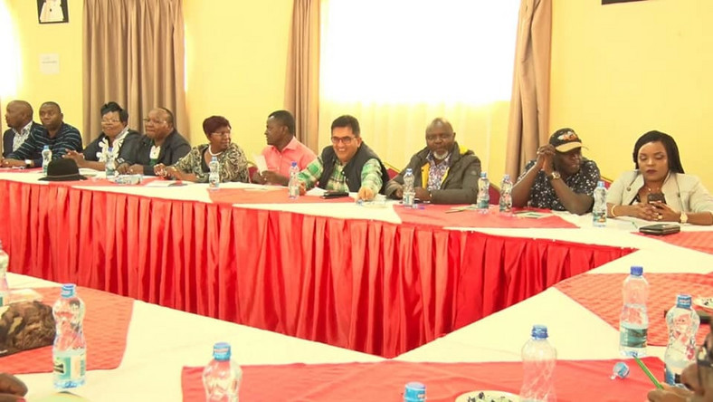 A section of the 59 politicians who convened in Embu