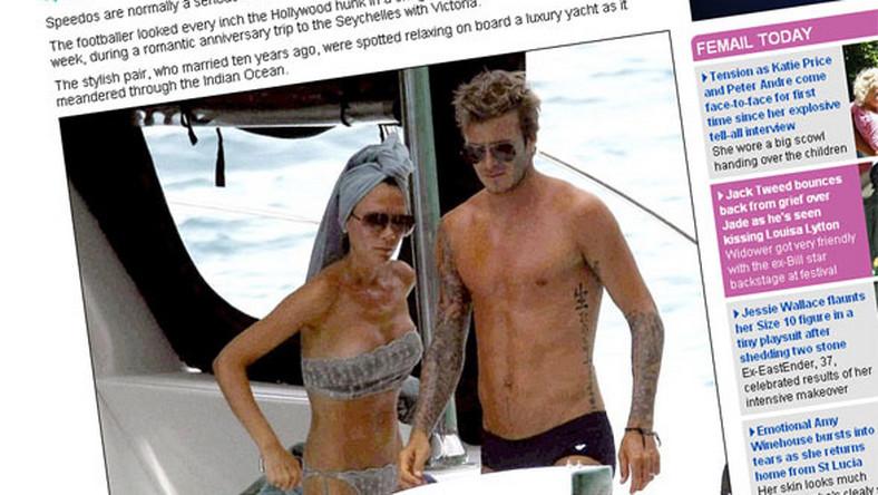 Beckhamowie przyłapani półnago na jachcie