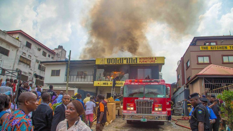 A fire accident scene in Lagos (image used for illustrative purpose) [PM News]