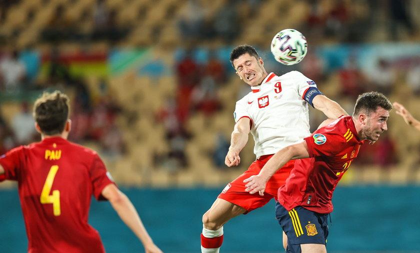 Robert Lewandowski po meczu z Hiszpanią: determinacją można dużo zdziałać