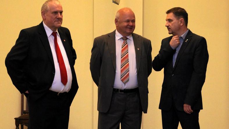 Jan Guz, Tadeusz Chwałka (w środku) i Piotr Duda