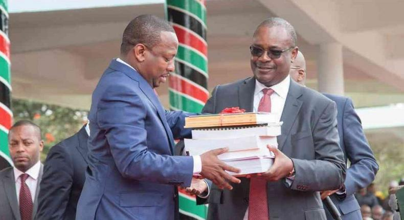 Nairobi Governor Mike Sonko with ex-Nairobi Governor Dr.Evans Kidero