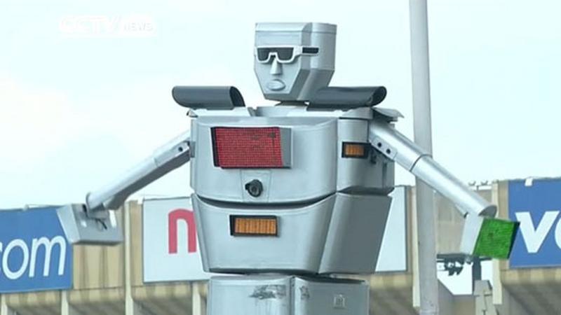 Robot steruje ruchem