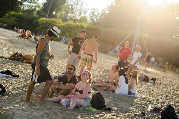 EXIT kamp, plaža Štrand