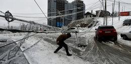 Armagedon pogodowy. Zamarzło całe miasto. 150 tys. osób bez prądu