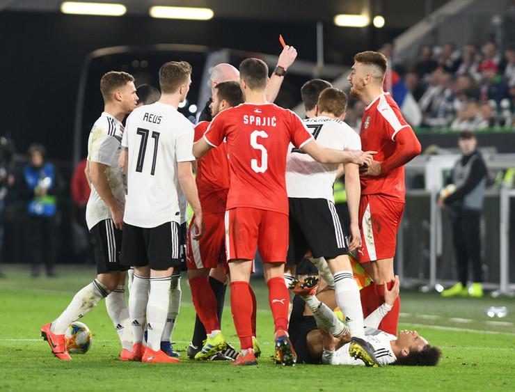 Detalj sa utakmice Nemačke - Srbija