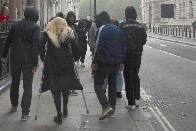 Madona na protestu u Londonu
