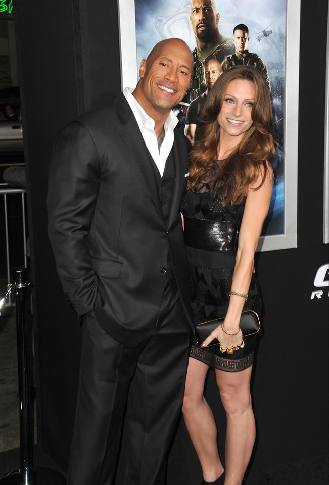 "Dwayne ""The Rock"" Johnson i Lauren Hashian"