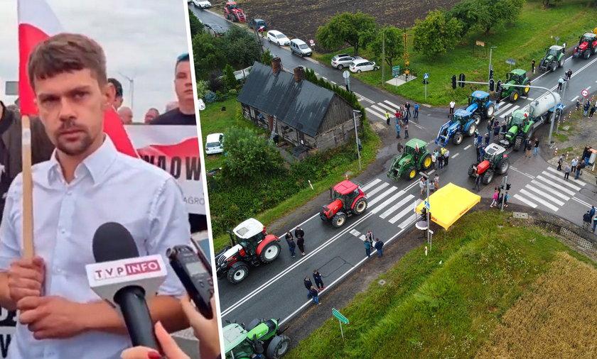 Michał Kołodziejczak zagotował się po pytaniu dziennikarki TVP Info