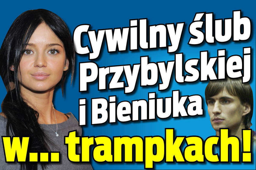 Cywilny ślub Przybylskiej i Bieniuka w... trampkach!
