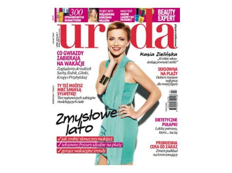 """Katarzyna Zielińska na okładce magazynu """"Uroda"""""""