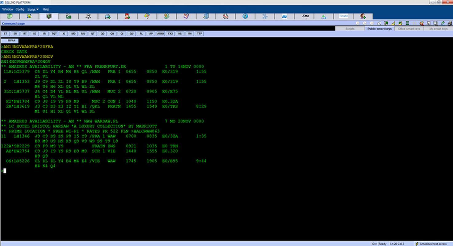 Command Page - zrzut ekranu