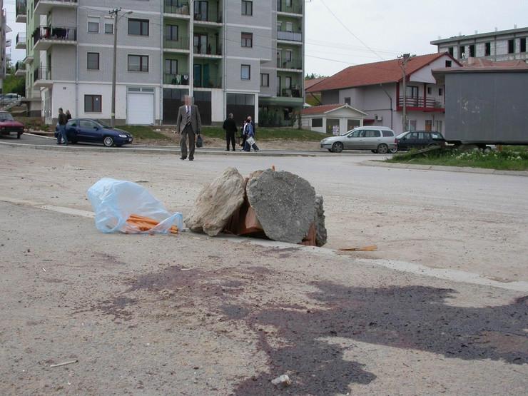 NIS01 Mesto pucnjave u Mokranjcevoj ulici 2008 godine kada j eubijen Marko Pavlovic foto Branko Janackovic