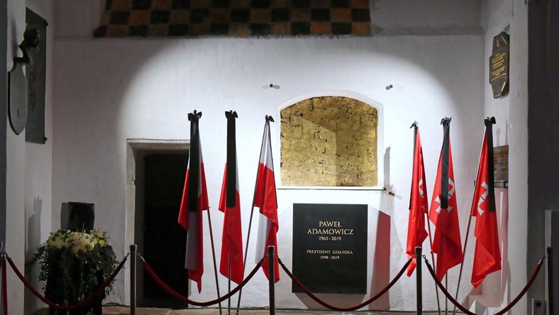 Urna z prochami prezydenta została wmurowana w ścianę Bazyliki Mariackiej