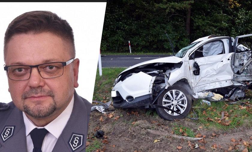 Groźny wypadek pod Pajęcznem. Komendant policji w ciężkim stanie