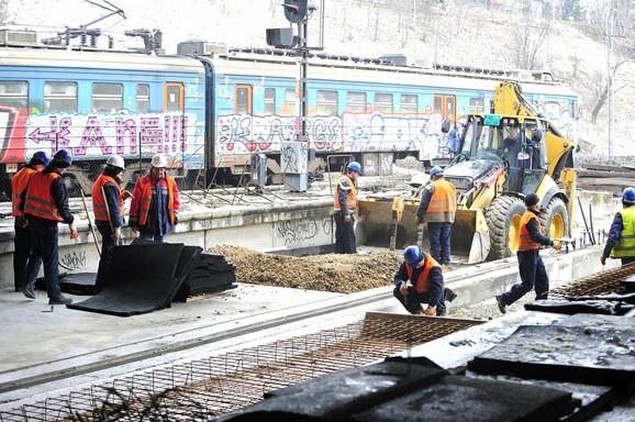 Rade od decembra:Građevinci juče na Prokopu