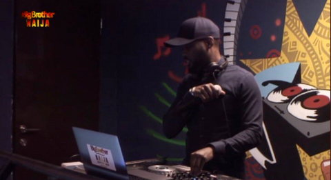 The story of BBNaija 11th Saturday Night Party will not be complete without the inclusion of DJ Sparrow. [Twitter/BBNaija]