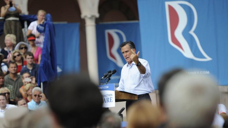 Romney w mieście Sarasota na Florydzie